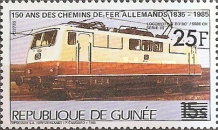 [Trains - Issue of 1985 Surcharged, Typ ABW1]