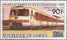 [Trains - Issue of 1985 Surcharged, Typ ABY1]