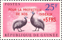 [Birds - Guineafowl Stamps Overprinted