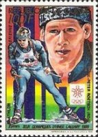 [Airmail - Calgary Winter Olympic Games Gold Medal Winners, Typ AGU]