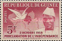 [Proclamation of Independence - President Sekou Toure, type C]