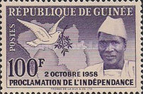[Proclamation of Independence - President Sekou Toure, Typ C4]