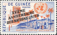 [The 15th Anniversary of the United Nations - Overprinted