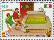 [Football World Cup - Spain - Football Stadiums Overprinted in Left Side, Typ WL1]