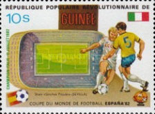 [Football World Cup - Spain - Football Stadiums Overprinted in Left Side, Typ WN1]