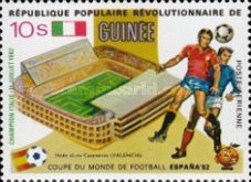 [Football World Cup - Spain - Football Stadiums Overprinted in Left Side, Typ WO1]