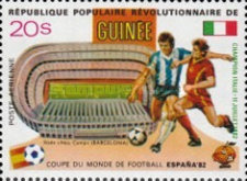 [Football World Cup - Spain - Football Stadiums Overprinted in Left Side, Typ WP1]