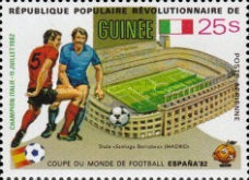 [Football World Cup - Spain - Football Stadiums Overprinted in Left Side, Typ WQ1]