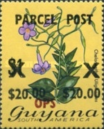 [Flowers - Parcel Post Stamps Overprinted