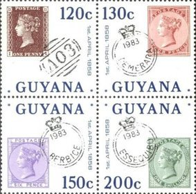 [The 125th Anniversary of the First use of Stamps in Guyana, Typ ]