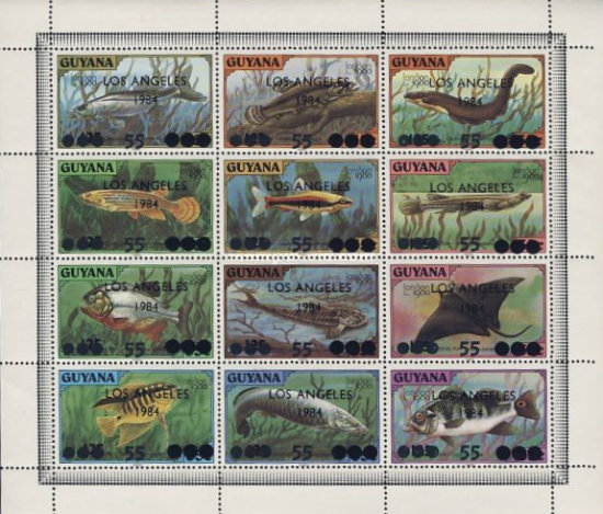 [Olympic Games - Los Angeles, USA - Various Stamps Overprinted & Surcharged, Typ ]