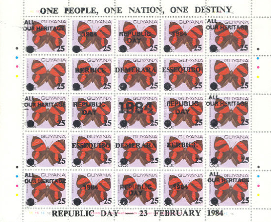[Republic Day - Issues of 1978 variously Overprinted or Surcharged, Typ ]