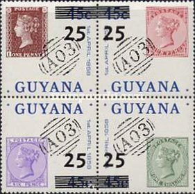 [Various Stamps Surcharged, type ]