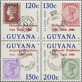 [A.S.D.A. Philatelic Exhibition - Issues of 1983 Overprinted