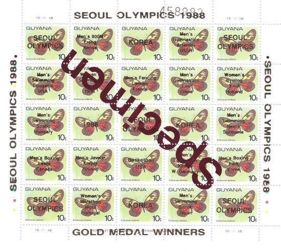 [Olympic Games - Seoul 1988, South Korea - Gold Medal Winners, Typ ]