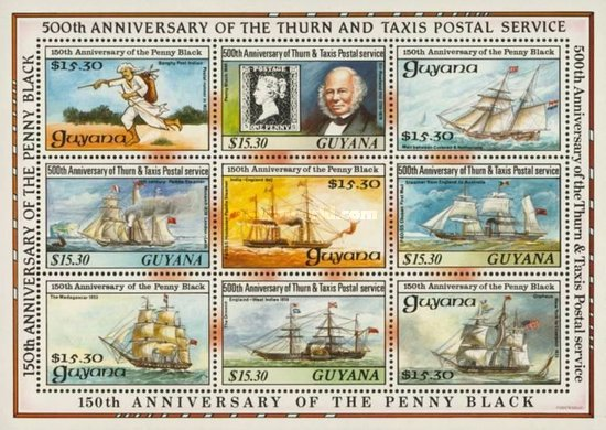 [The 150th Anniversary of the Penny Black and the 500th Anniversary of Thurn and Taxis Postal Service, Typ ]