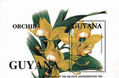 [The 700th Anniversary of the Swiss Federation - Orchids, Typ ]