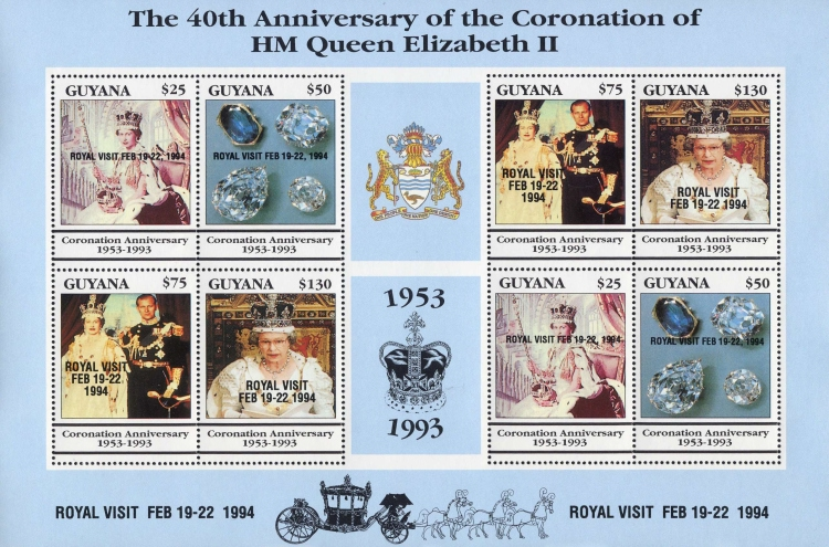 [Royal Visit of Queen Elizabeth II - Stamps of 1993 Overprinted, Typ ]