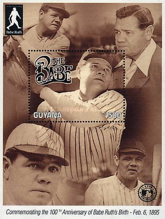 [The 100th Anniversary of the Birth of Babe Ruth, Baseball Player, 1895-1948, Typ ]