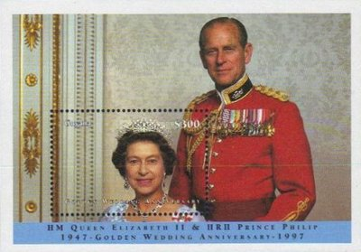 [The 50th Anniversary of the Wedding of Queen Elizabeth II and Prince Philip, Typ ]