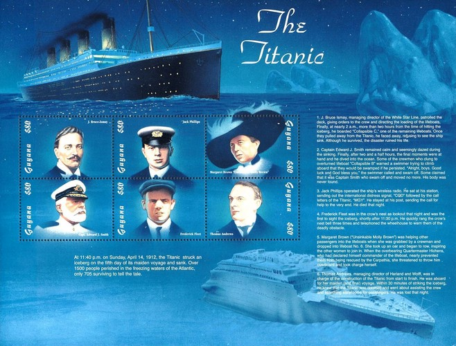 [The 85th Anniversary of the Titanic Disaster, Typ ]