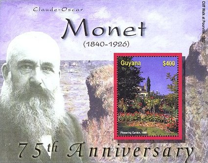 [The 75th Anniversary of the Death of Claude-Oscar Monet, Artist, 1840-1926, Typ ]