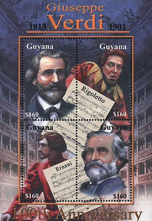 [The 100th Anniversary of the Death of Giuseppe Verdi, Italian Composer, 1813-1901, Typ ]