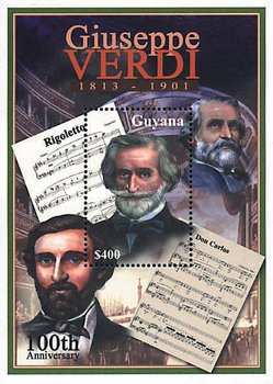 [The 100th Anniversary of the Death of Giuseppe Verdi, Italian Composer, Typ ]