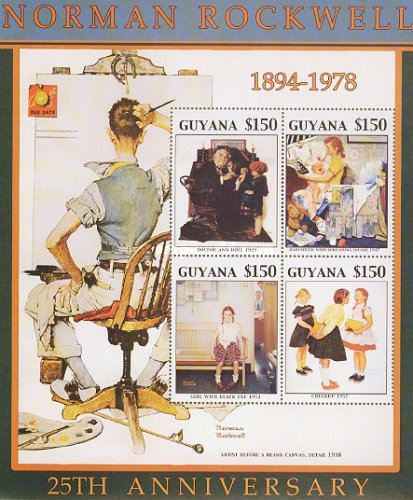 [The 25th Anniversary of the Death of Norman Rockwell, Artist, 1894-1978, Typ ]