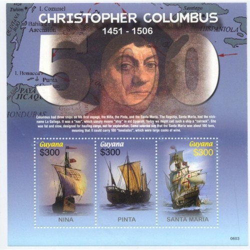 [The 500th Anniversary of the Death of Christopher Columbus, 1451-1506, Typ ]