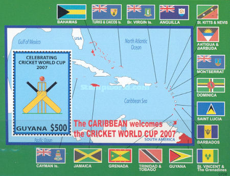 [Cricket World Cup, Antigua, Barbados, Grenada, Guyana, Jamaica, St Kitts, St Lucia, St Vincent and Trinidad, Typ ]