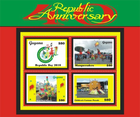 [The 40th Anniversary of the Republic of Guyana, type ]