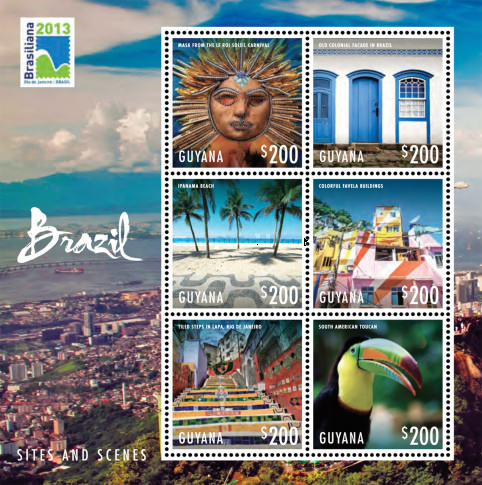 [World Stamp Exhibition BRASILIANA 2013 - Sites and Scenes of Brazil, Typ ]