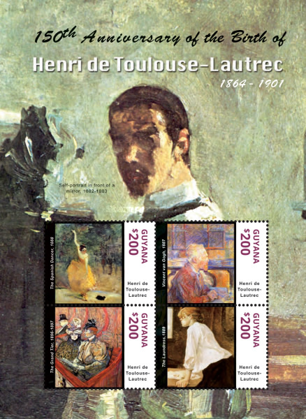 [The 150th Anniversary of the Birth of Henri de Toulouse-Lautrec, 1864-1901, Typ ]