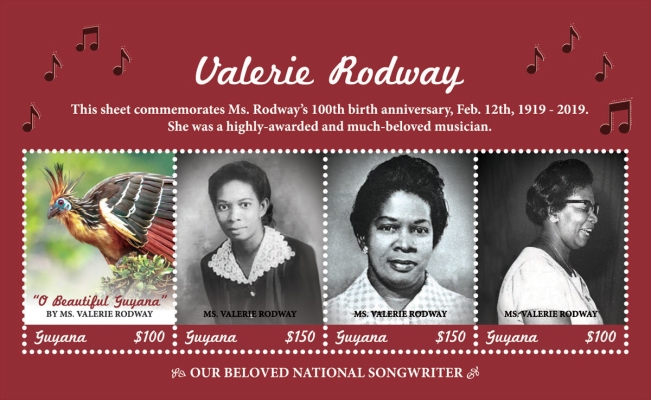 [The 100th Anniversary of the Birth of Valerie Rodway, 1919-1970, type ]