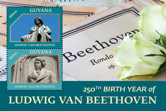 [The 250th Anniversary of the Birth of Ludwig van Beethoven, 1770-1827, type ]