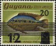 [Fish - Previous Stamps Surcharged, Typ AAS]