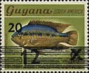 [Fish - Previous Stamps Surcharged, Typ AAT]