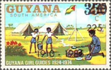 [The 75th Anniversary of Girl Guide Movement - Issue of 1974 Overprinted