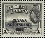 """[Independence - British Guiana Postage Stamps Overprinted """"GUYANA INDEPENDENCE 1966"""", Typ AD]"""