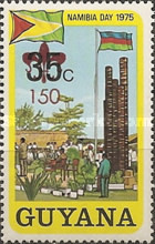 [Namibia Day - Issue of 1975 Surcharged 150, Typ ADD]