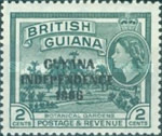 """[Independence - British Guiana Postage Stamps Overprinted """"GUYANA INDEPENDENCE 1966"""", Typ AE]"""