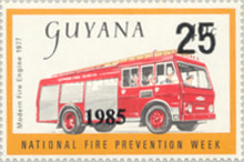 [Fire Prevention - Issues of 1977 Overprinted