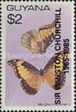 [The 20th Anniversary of the Death of Sir Winston Churchill - Issue of 1978 Overprinted