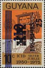 [The 35th Anniversary of International Commission of Irrigation and Drainage - Issue of 1975 with Unissued Surcharge further Surcharged 1950-1985, Typ AEM]