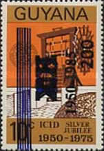 [The 35th Anniversary of International Commission of Irrigation and Drainage - Issue of 1975 with Unissued Surcharge further Surcharged 1950-1985, Typ AEN]