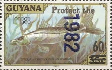[Wildlife Protection - Issue of 1982 Surcharged, Typ AHV]