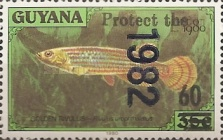 [Wildlife Protection - Issue of 1982 Surcharged, Typ AHV3]