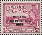 """[Independence - British Guiana Postage Stamps Overprinted """"GUYANA INDEPENDENCE 1966"""", Typ AK]"""