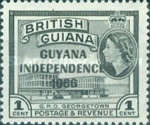 """[Independence - British Guiana Postage Stamps Overprinted """"GUYANA INDEPENDENCE 1966"""", Typ AM]"""